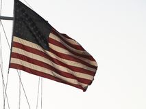 U.S. Flag Flying High Royalty Free Stock Image