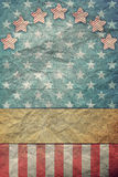 U S A  Flag for July 4th, Labor Day  for Vintage Royalty Free Stock Image