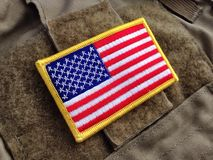U.S. flag morale patch Stock Photo