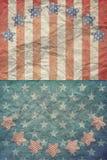 U.S.A. Flag para o 4 de julho, Dia do Trabalhador Imagens de Stock Royalty Free