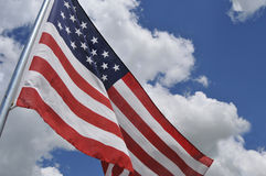 U.S. flag tilted Royalty Free Stock Image