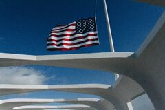 U.s.a Flag Waving during Daytime Royalty Free Stock Photos