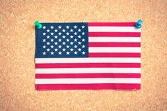 U S flaga na pokładzie Obraz Stock