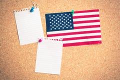 U S flaga na pokładzie Fotografia Stock