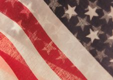 U.S. flags transparent Stock Images
