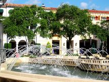 U.S.A., Florida, Fort Lauderdale, fontana della città fotografie stock