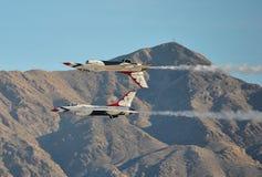 U S FlygvapenThunderbirds Arkivbild
