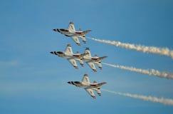 U S FlygvapenThunderbirds Arkivbilder