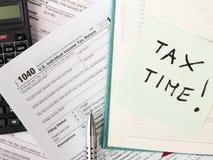 U S Forma de impuesto individual Imágenes de archivo libres de regalías