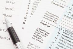 U S Formulário de imposto da renda fotografia de stock royalty free
