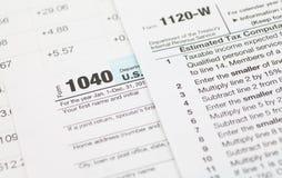 U S Formulário de imposto da renda foto de stock