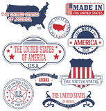 U.S. generic stamps and signs Royalty Free Stock Images
