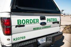 U S Gränsbevakningmedel Arkivfoto