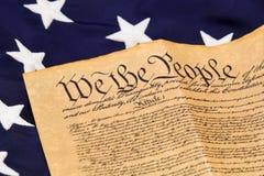 U.S. Grondwet en Sterren Royalty-vrije Stock Afbeeldingen