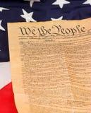 U.S. Grondwet op Vlag Royalty-vrije Stock Fotografie