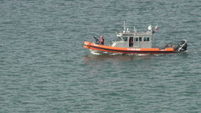 U S Guarda costeira Patrol Boat video estoque