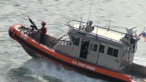 U S Guardacostas Patrol Boat almacen de video