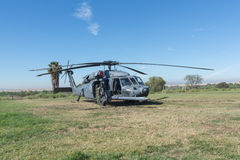 U S Helicóptero do falcão do preto de Sikorsky UH-60 do exército Imagem de Stock