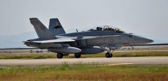 U S Hornissen-Kampfflugzeug der Marine-F-18 Lizenzfreie Stockbilder