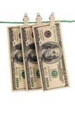 American banknotes. Royalty Free Stock Photo