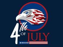 U.S.A. il quarto luglio Fotografia Stock Libera da Diritti