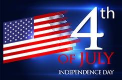 U.S.A. il quarto luglio Immagine Stock