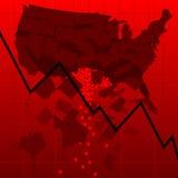U.S. Immobiliënmarktneerstorting Royalty-vrije Stock Foto's
