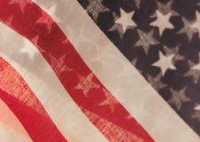U.S. inbandiera trasparente Immagini Stock
