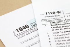 U S  income tax form Royalty Free Stock Photos