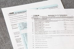 U S  income tax form Royalty Free Stock Images