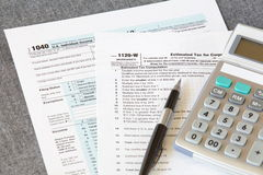 U S  income tax form Stock Photos