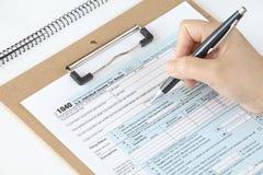 U S  income tax form Stock Photo