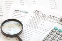 U S  income tax form Stock Image