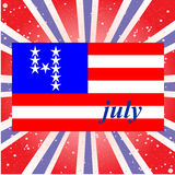 U.S. Independence Day, July 4, the background with Stock Photos