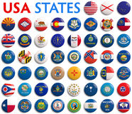 U.S.A. indica le bandiere Fotografia Stock Libera da Diritti