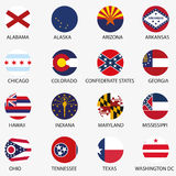 U.S.A. indica le bandiere Immagini Stock