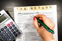U.S. Individual income tax return. tax 1040.  Royalty Free Stock Images