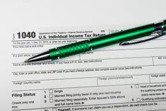 U S IndividualeinkommenSteuererklärung Steuer 1040 Stockfotos