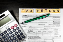 U S IndividualeinkommenSteuererklärung Steuer 1040 Lizenzfreies Stockbild