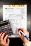 U S Individuell inkomstskattretur skatt 1040 Royaltyfria Foton