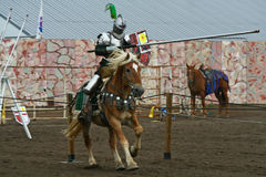 U.S./International Jousting Championship. The annual Longs Peak Scottish Irish Highlands Festival is a popular event in Estes Park, Colorado, USA. It attracts Royalty Free Stock Photos
