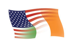 U.S. & Irish Flags blended together Royalty Free Stock Photo