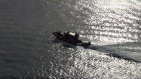 U S Küstenwache Patrol Boat stock video