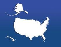 U.S. kaart Stock Fotografie