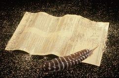 U.S. Konstytuci i Dutki Pióro Obrazy Royalty Free