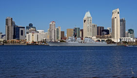 Nave della marina militare a San Diego Fotografia Stock Libera da Diritti