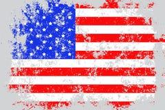 U.S.A., lerciume degli Stati Uniti d'America, vecchia, bandiera graffiata di stile Immagini Stock