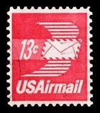 U S Lotniczej poczta 13 cent Zdjęcie Royalty Free