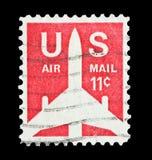 U S Lotniczej poczta 11 cent Obraz Stock