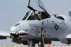 U S Luchtmacht a-10 Blikseminslag II bij de lucht van Cleveland toont stock foto